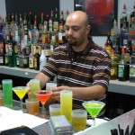 Ramos making drinks at American Bartending School