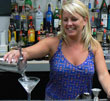 Renee makes a martinit at American Bartending School