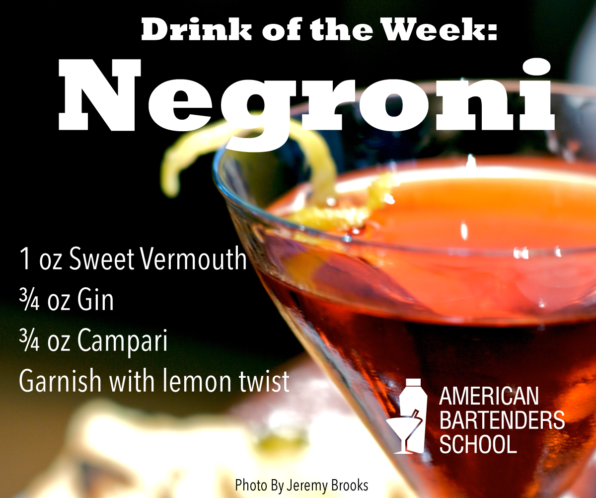 barschool drink of the week - negroni