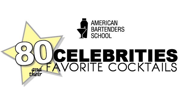 celebrity cocktails american bartenders school